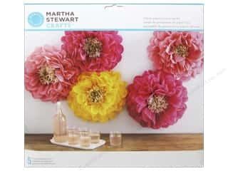 yellow pom pom: Martha Stewart Decorative Pom Pom Poppy Flowers Kit (2 sets)