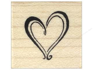 Valentines Day Gifts Stamps: Inkadinkado Wood Stamp Heart