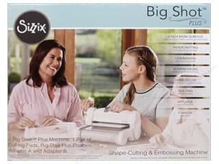 Adapters: Sizzix Big Shot Plus Cutting Machine White & Gray