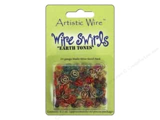 24 ga wire: Artistic Wire Wire Swirls 24 ga. Assorted Earth Tone Colors (6 sets)