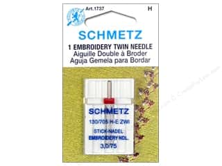 schmetz twin: Schmetz Machine Embroidery Needle Twin Size 75/3.0