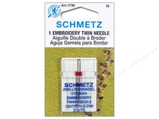 schmetz twin: Schmetz Machine Embroidery Needle Twin Size 75/2.0