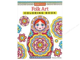 Activity Books / Puzzle Books: Design Originals Folk Art Coloring Book
