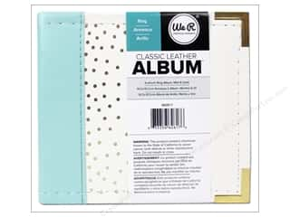 "Weekly Specials Pattern: We R Memory Album 4""x 4"" Mint With Gold Dots"