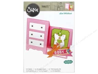 Sizzix: Sizzix Thinlits Die Set 12PK Card Baby Dresser by Lori Whitlock