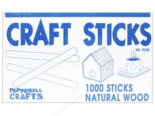 Pepperell Braiding Co: Pepperell Wood Craft Sticks 1000pc