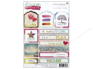 Theme Stickers / Collection Stickers: Webster's Pages Dream In Color Collection Sticker Tags & Prompt