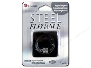 Cousin Elegance Stainless Steel Clasp Magnetic Round Picture