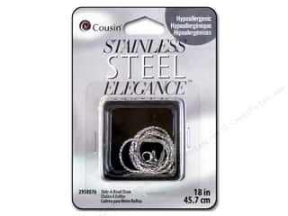 "Cousin Elegance Stainless Steel Chain Slide-A-Bead 18"" Picture"