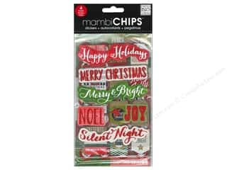 Holiday Gift Idea Sale: Me&My Big Ideas Sticker Designer Chipboard Holiday Tags/Numbers