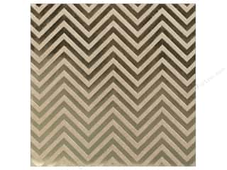 "bazzill paper 12 x 12: Bazzill Paper 12""x 12"" Kraft With Gold Foil Chevron (15 pieces)"