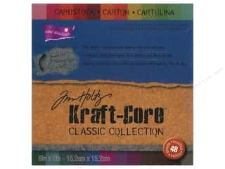 Clearance Coredinations Cardstock Packs: Coredinations Cardstock Pack 6 x 6 in. Kraft Core Tim Holtz Classic