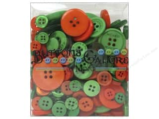 Buttons Galore & More: Buttons Galore Button Totes 3.5 oz. Green & Orange