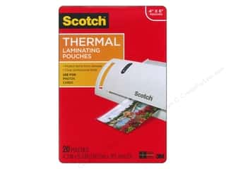 "Scotch: Scotch Laminating Pouch Thermal Photo 4""x 6"" 20pc"