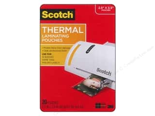 "Scotch: Scotch Laminating Pouch Thermal Wallet 2.5""x 3.8"" 20pc"
