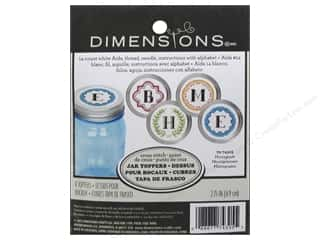 Weekly Specials Embroidery: Dimensions Cross Stitch Kit Mason Jar Topper Monogram