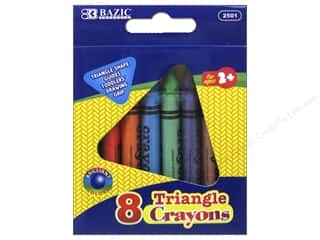 Experiment, The: Bazic Basics Super Jumbo Triangle Crayons 8 pc.