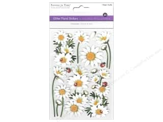 theme stickers  floral: Multicraft Sticker Glitter 3D Floral Daisies