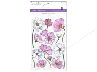 theme stickers  floral: Multicraft Sticker Glitter 3D Floral Magnolias