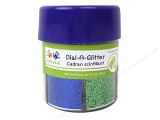 Multi Colored Yarn: Multicraft Krafty Kids Dial A Glitter Laser 6 Colors