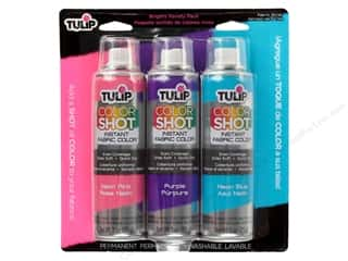 Tulip Color Shot Fabric Spray Paint Brights 3 pc.