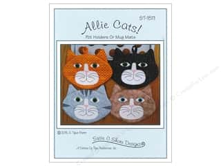 linen floss: Susie C Shore Allie Cats Pattern