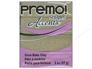 Semi-precious Stone Beads: Premo! Sculpey Polymer Clay 2 oz. Glitter Yellow Gold