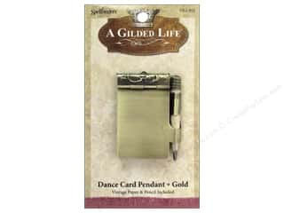 pendants jewelry: Spellbinders A Gilded Life Pendants Dance Card Gold