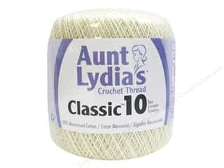 Aunt Lydia's Classic Cotton Crochet Thread Size 10 350 yd. Cream