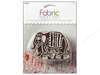 textile medium fabric: Plaid Fabric Creations Block Printing Stamp Medium Parade Elephant