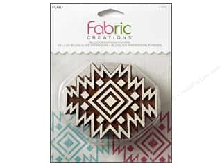 textile medium fabric: Plaid Fabric Creations Block Printing Stamp Medium Aztec Tile