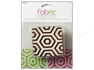 textile medium fabric: Plaid Fabric Creations Block Printing Stamp Medium Hex Honeycomb
