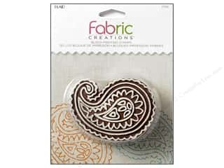 textile medium fabric: Plaid Fabric Creations Block Printing Stamp Medium Paisley