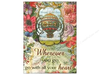 Punch Studio Note Pad Pocket Words Of Wisdom Air Balloon Floral