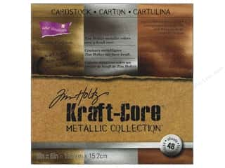 Clearance Coredinations Cardstock Packs: Coredinations Cardstock Pack 6 x 6 in. Kraft Core Tim Holtz Metallic