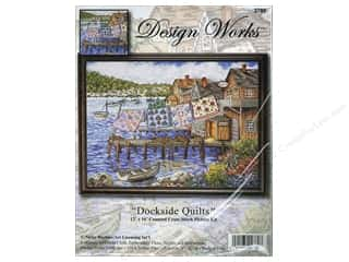 Quilted Fish, The: Design Works Cross Stitch Kit 12 x 16 in. Dockside Quilts