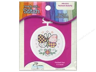 Janlynn Cross Stitch Kit Mini Patchwork Butterfly Picture