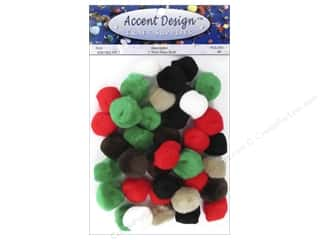 Pom Pom by Accent Design 1 in. Multi 40 pc .