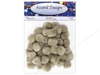 Pom Pom by Accent Design 1 in. Beige 40 pc.
