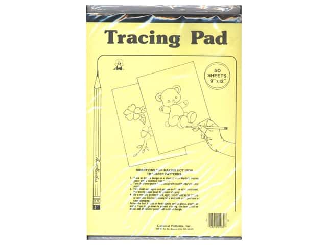 Aunt Martha's Tracing Paper Pad 8 1/2 x 12 in. 50 Sheets