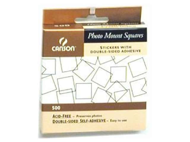 Canson Self-Adhesive Photo Mount Squares 500 pc. Clear