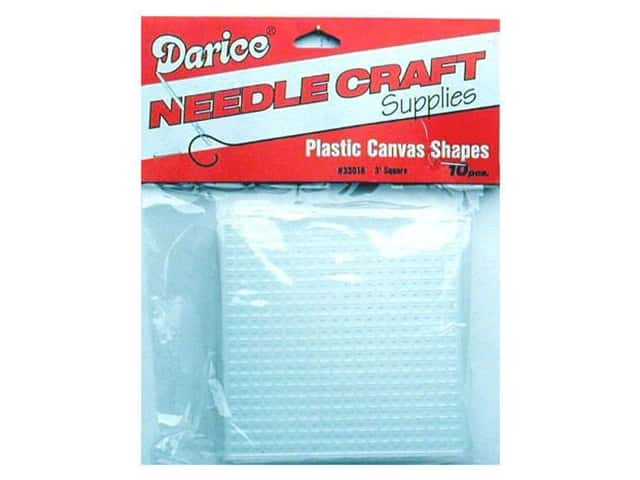 Darice Plastic Canvas #7 Mesh 3 x 3 in. Clear Square