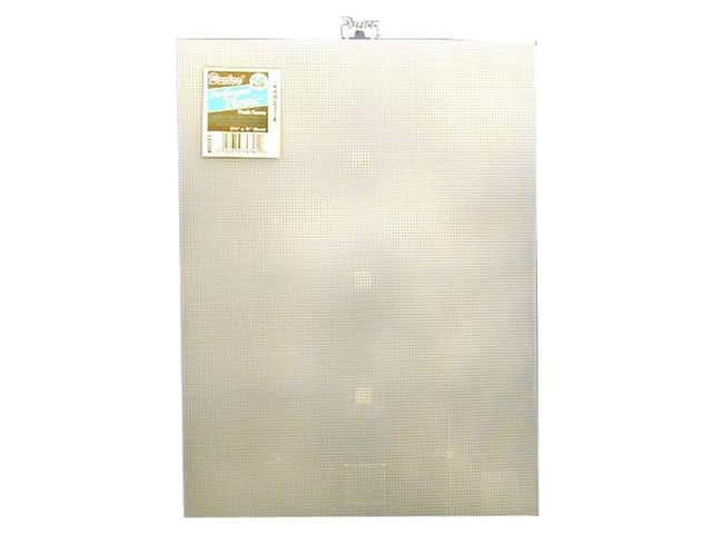 Darice Plastic Canvas #14 Mesh 8 1/2 x 11 in. Clear Rectangle (12 sheets)