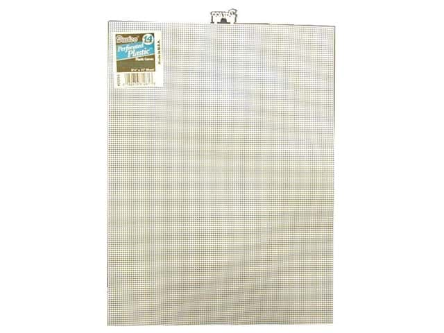 Darice Plastic Canvas #14 Mesh 8 1/2 x 11 in. White Rectangle (12 sheets)