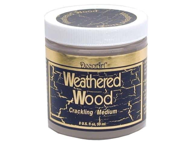 DecoArt Medium Weathered Wood Crackling 8oz