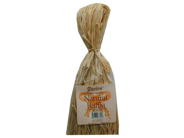 Darice Raffia Flat 2oz Hank Natural