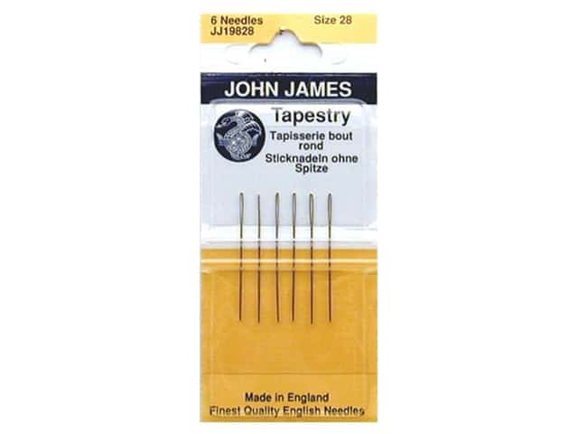 John James Needle Tapestry Size 28 5 pc (3 packages)