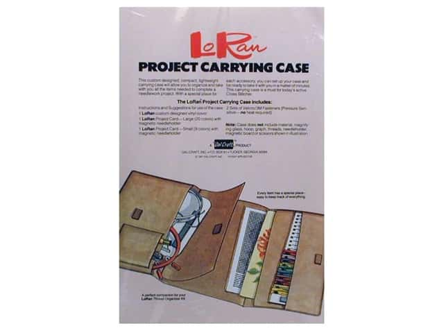 LoRan /Dritz Stitchery Project Carrying Case