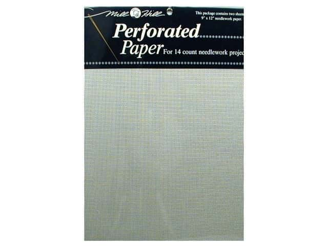 "Millhill Perforated Paper 9""x 12"" White 2 pc"
