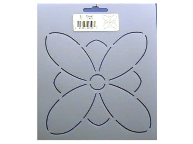 Quilting Creations Stencil Flower 5 in.